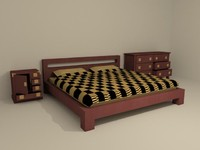 3d asian bedroom furniture bed