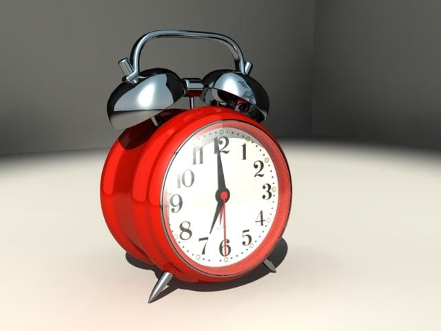 classic alarm clock 3d model