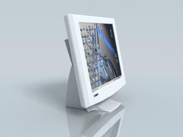 computer screen 3d model