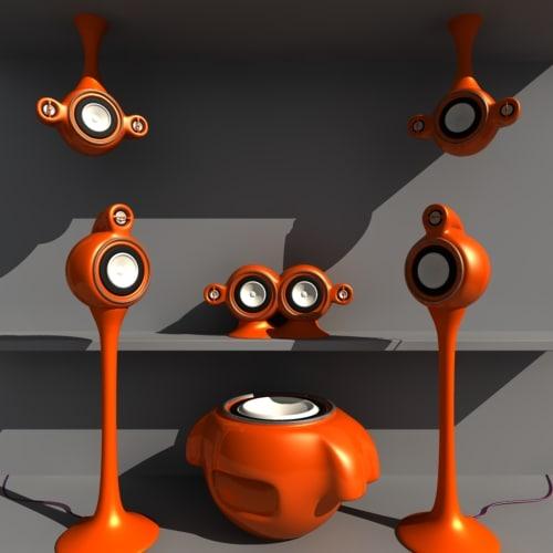 surround speakers - 3d max
