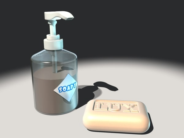 3d model piece soap dispenser