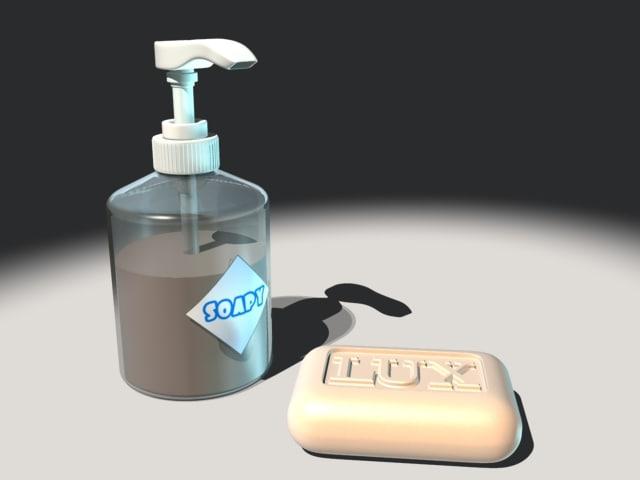 3d model piece soap dispenser