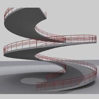 ramp multistory story 3d model