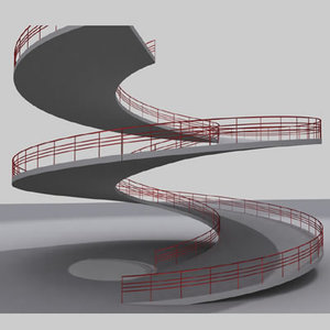 ramp multistory story 3d model