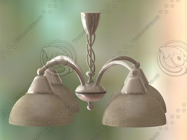 3d max hanging pendant light