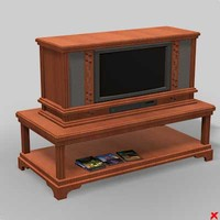 3d model tv old style