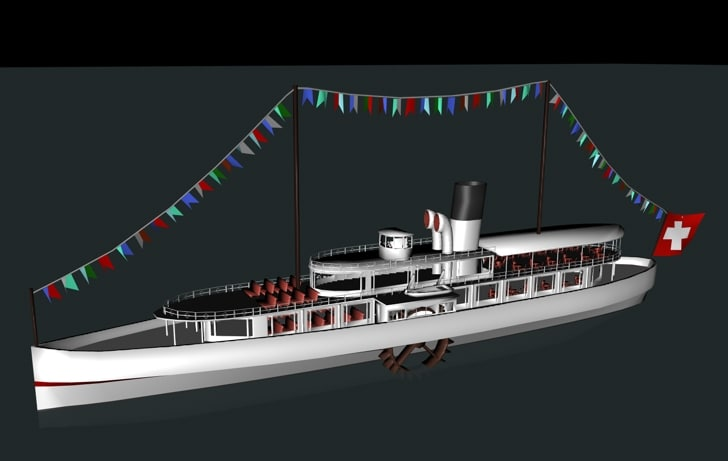 ship steamship 3d model