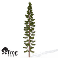 3ds xfrogplants serbian spruce tree