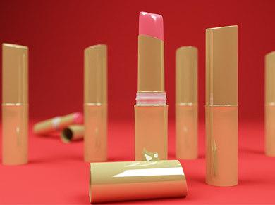 lipstick lights 3d model