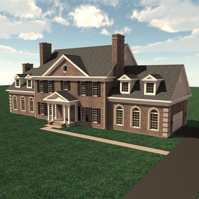 3d model story house