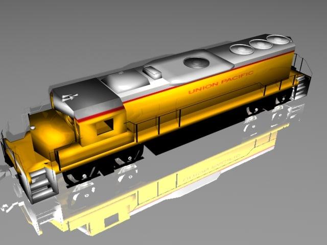 3ds train desiel engine