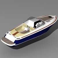 3d model corsair 33 motor boat