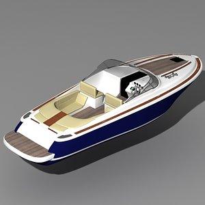 3d model corsair 33 motor boat