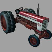 3d international tractor model