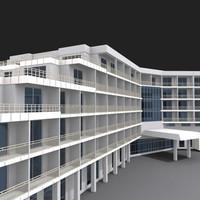 building hotel 3d max
