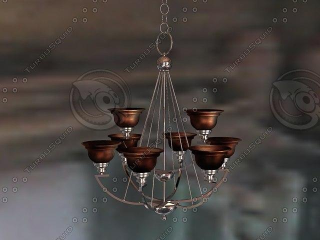 3d 3ds b chandelier