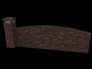 brick arched 3d max