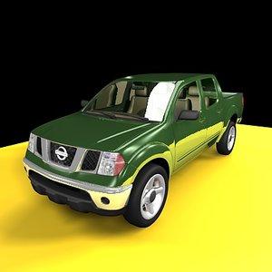 3d model pickup nissan frontier