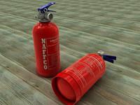c4d extinguisher car