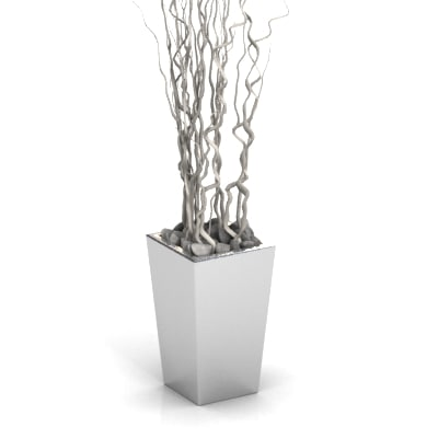 3d contorted willow model