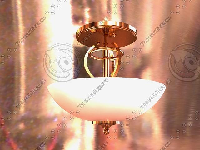 t ceiling light 3d model