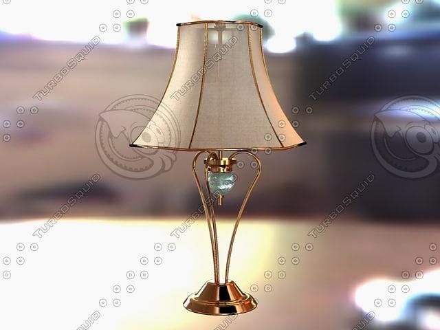 3d model f table lamp