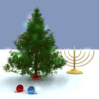 holiday christmas tree 3d max