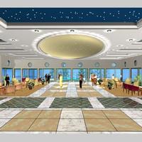 hotel ballroom lobby 3d model