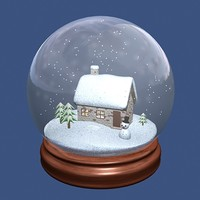snowglobe snows 3d max