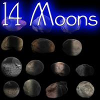 14 Solar System Moon Models