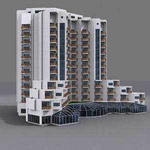 hotel 03 3d model