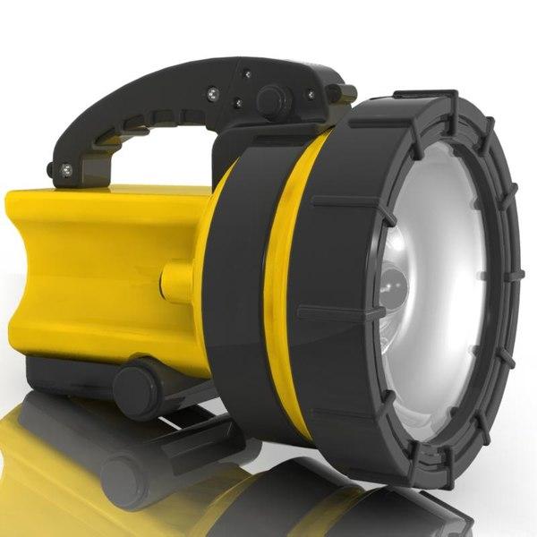 3d model of flashlight light