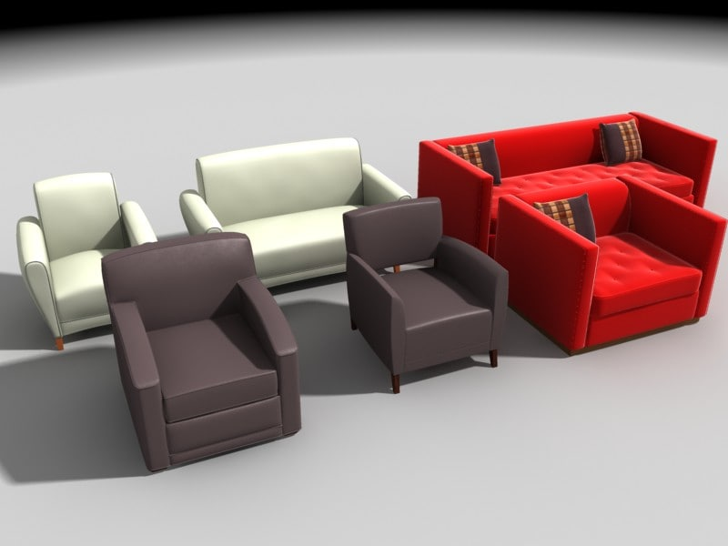 3d chairs sofas