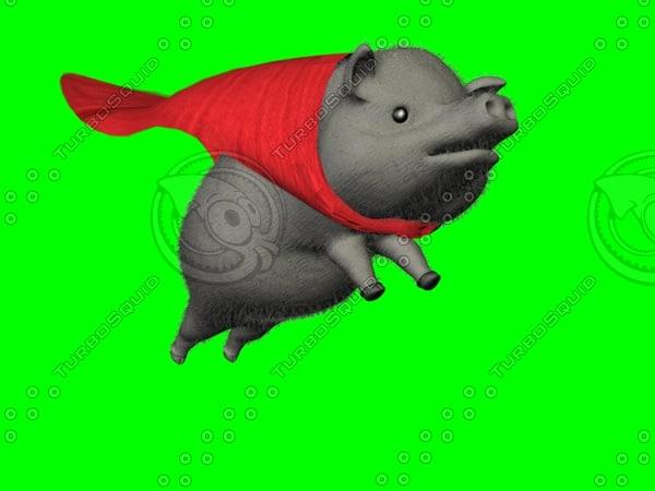 3d model pigs fly
