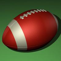 realistic football ball 3d model