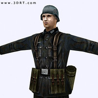 3ds max world war german soldier