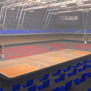 3d model basketball arena