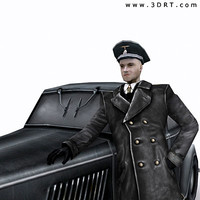 world war german soldier 3d model