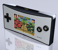 boy advance micro gba 3d c4d