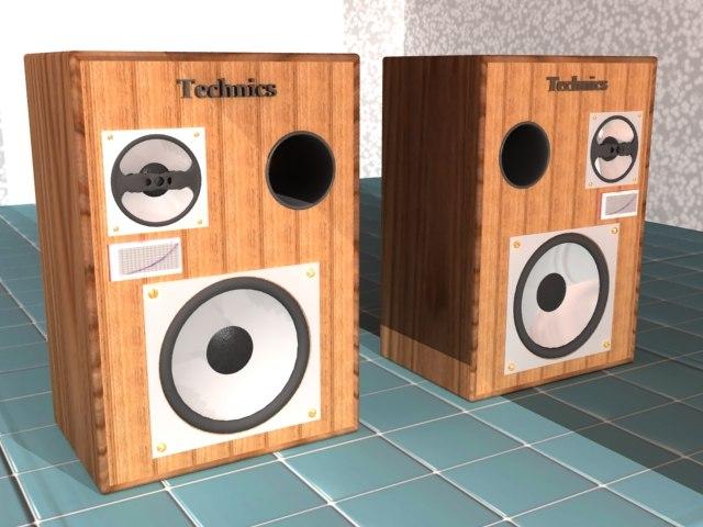 free speakers 3d model