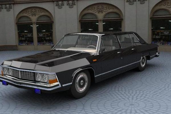 limousine gaz 14 chaika 3d model
