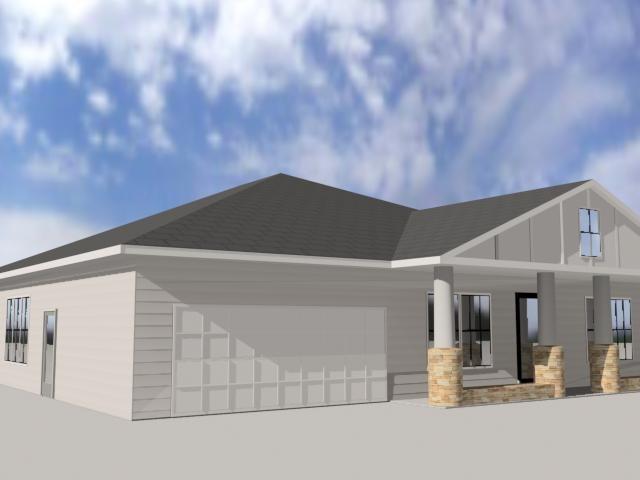3d 1 story house model