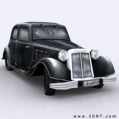 world war german car 3d model