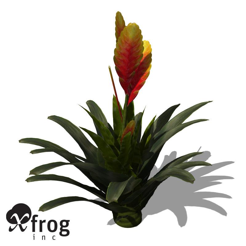 flaming sword plant 3d model
