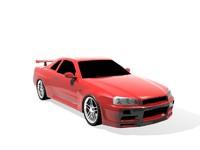 3d car skyline model