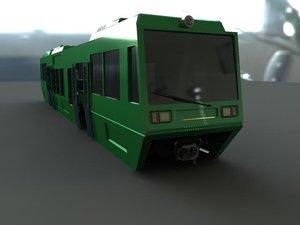 3d light rail car