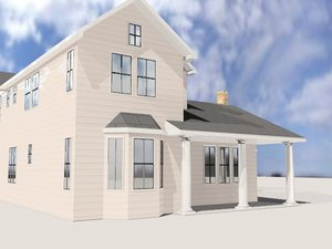 3d model style house