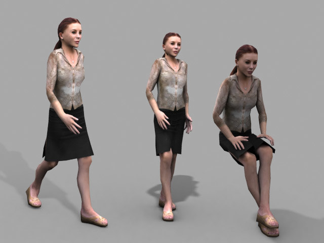 human girl 3d model