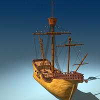 3d model christopher ship