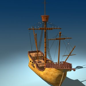3d model christopher ship